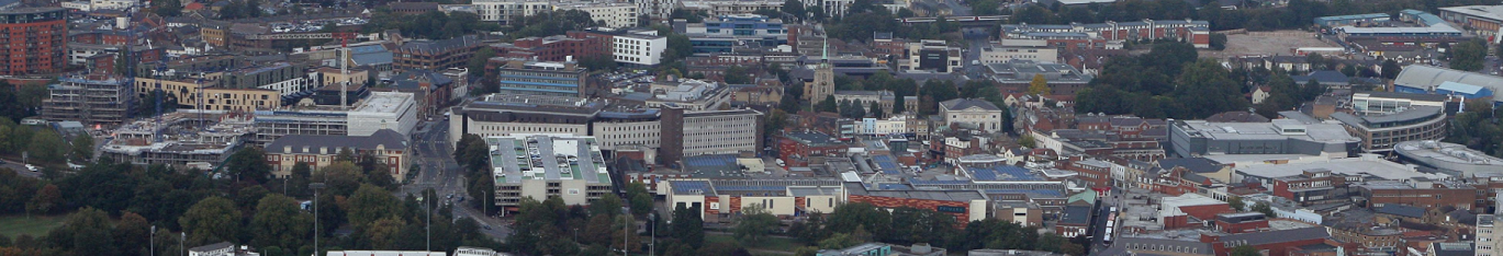 Aerial view of Chelmsford