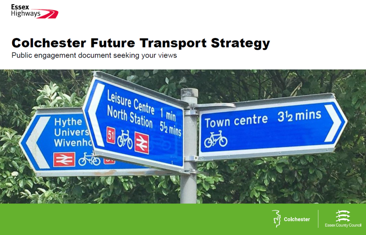 Cover of Colchester Future Transport Strategy - Public engagement document seeking your views