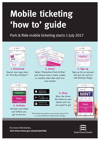 Mobile payments available from 1 July on Sandon Park and Ride - Download First Bus mTickets from your app store