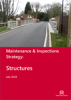Cover of the Maintenance and Inspections Strategy, Structures - July 2019