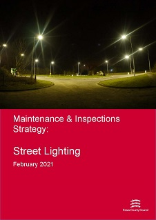 Cover of the Maintenance and Inspections Strategy, Street Lighting - February 2021